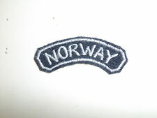 b5285 WW 2 Norway Air Force tab white on gray C10A8