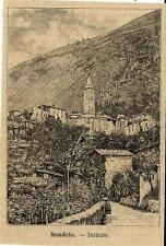 Stampa antica MONTAGNA IN VALTELLINA panorama Sondrio 1891 Old antique print