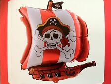 PIRATE SHIP SKULL AND CROSSBONES BIRTHDAY PARTY BALLOON HELIUM FOIL LOLLY LOOT