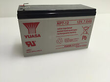 GENUINE RECHARGEABLE YUASA NP7-12 ACID BATTERY 12V, 7.0 Ah FOR BP48V60RT3U