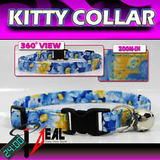 Breakaway SAFETY CAT Collar * Packed Blue Floral *