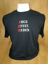 Cold Steel Mercs. t-shirt L Black Pre-owned - pre-shrunk 50% cotton 50%polyester