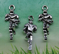 Set of 6 New FOOTBALL Charms - ONE EACH (pictured) Tibet Silver Alloy Free Ship