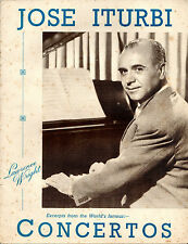 SHEET MUSIC - PIANO SOLOS FROM COINCERTOS - VICTOR AMBROSE - JOSE ITURBI (1947)