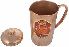 100% Pure 1 Ltr Copper Water Jug Pitcher New Copper Indian Ayurveda Product
