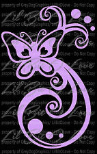 Butterfly Swirls Vinyl Decal Auto Tattoo Filigree Sticker for Car Auto Vehicle