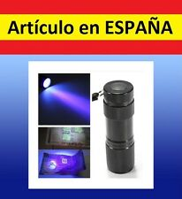 LINTERNA ULTRAVIOLETA para billetes falsos discotecas mini UV 9 LEDs backlight