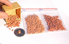 600 O / HO scale Real bricks 2 colours , for model railway wargame scenery flock