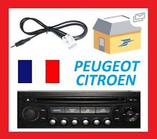 Cable auxiliaire mp3 pour autoradio PEUGEOT 407 RD4 12pin iphone...