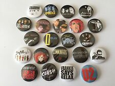 22 80s button badges Duran Duran The Smiths Police Clash U2 Soft Cell Communards