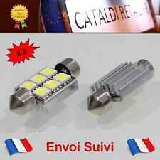 2 x Navettes LED C5W 6 SMD 36 mm Canbus Anti Erreur ODB Blanc Pur / FRANCE !