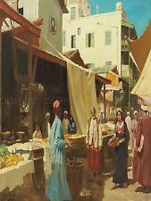 PAINTING CITYSCAPE GLEICH NORTH AFRICAN BAZAAR ART PRINT POSTER LF342