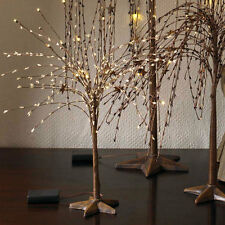 10 Inch LED Lights w/ Cream Pips & Rusty Stars - Willow Tree and Star Base Light
