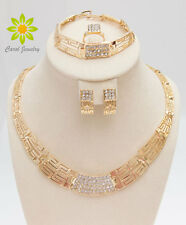Fashion Women Gold Plated Alloy Necklace Sets Africa Dubai Wedding Jewelry Sets