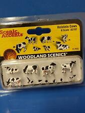 Holstein Cows Miniature Animals #2187 N Scale Woodland Scenics Model Trains