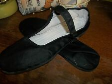 SIZE 38 BLACK  MARY JANE CHINESE SHOES SLIPPERS COTTON LINING BLACK RUBBER SOLE