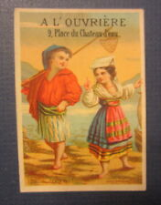 Old 1880's L'OUVRIERE - French TRADE CARD - Costumes & Confections for Ladies