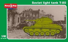 1:48 Mikro Mir #48-009 T-80 Soviet WWII light tank, with photo-etched parts