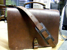Vintage abercrombie & fitch co. Leather Business Laptop Briefcase Bag Mens USA