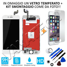 VETRINO LCD DISPLAY + TOUCH SCREEN RETINA COMPLETO PER APPLE IPHONE 6S BIANCO