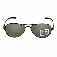 Ray-Ban RB 8301 002 56 Gent's Green Lenses Black Frame Sunglass