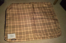 Dog Bed Cover - Cage mat style - Waterproof - Brown check