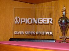 PIONEER SILVER SERIES RECEIVER ETCHED GLASS SIGN W/BASE