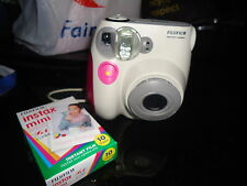 IMPORTED FUJIFILM INSTAX MINI POLAROID CAMERA white gray pink from London
