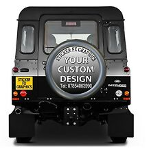 4x4 Spare Wheel Cover STICKER DECAL Any Vehicle off rd advertising Custom Design