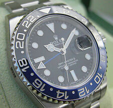 Rolex GMT MASTER II 116710 BLNR Mens Steel Black & Blue Ceramic BATMAN 40MM