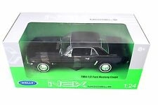 WELLY 1964 1/2 Ford Mustang H/Top Black New In Box 1/24 Diecast Car 22451