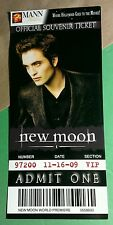 THE TWILIGHT NEW MOON EDWARD CULLEN MANN THEATRES OFFICIAL SOUVENIR TICKET