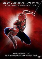 Amazing Spider-Man 1 & 2/Spider-Man 1-3 [DVD, 2015, 5 Discs] 5 Marvel Movies NEW