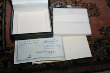 Alfred Dunhill Box Empty,with Jewelery Certificate & serial number Selfridges