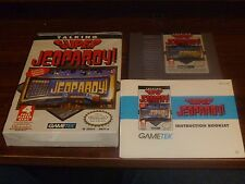 Talking Super Jeopardy Nintendo Game By Game Tek With Box & Booklet