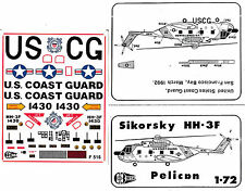 "1:72 Sikorsky HH-3F Pelican, US Coast Guard  ""C3D Decals""  NEU / NEW !!!"