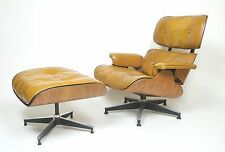 Vintage 1960's Herman Miller Eames Lounge Chair & Ottoman Rosewood 670 671