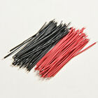 100X Black Red Kit Motherboard Breadboard Jumper Cable Wires Set Tinned 5cm