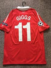MANCHESTER UNITED 2010/11 HOME CHAMPION LEAGUE SHIRT ADULTS(M) 11 GIGGS