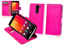HOT PINK Premium New Wallet Leather Case Cover For LG SPIRIT 4G