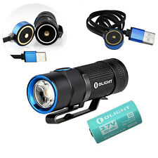 Olight S1R Baton Cree XM-L2 LED Rechargeable Flashlight Torch +IMR 16340 Battery