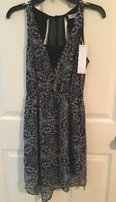 BCBG NWT Black Gray Print Cocktail Party Dress New XS $98 GET IT NOW!