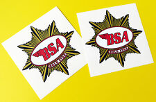BSA GOLD STAR tank logo stickers decals CAFE RACER metallic ink 1 pair