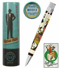 Retro 51 #VRR-1361 / Queen of Spades Rollerball Tornado Pen