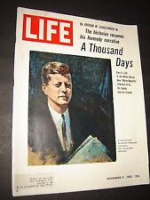 LIFE Magazine NOVEMBER 5 1965 JFK THOUSAND DAYS