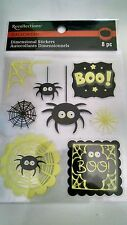 Recollections Halloween Dimensional Stickers Spiders #1114