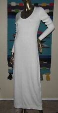 Victoria's Secret White Kiss Of Cashmere Knit Sweater Maxi Dress sz Small