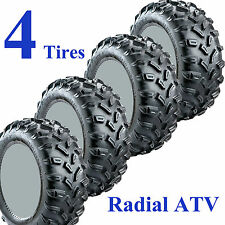 SET OF 4 ATV TIRES 26-10-15 FRONT 26-12-15 REAR Trail Finder VPR Radial 6ply DOT