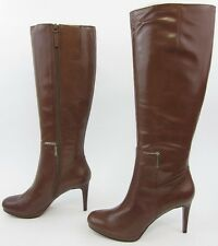 NEW! Nine West Evah Brown Leather Knee High Boots Size 11