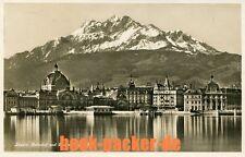 Alte AK/Vintage postcard: LUZERN. Bahnhof und Pilatus  (gelaufen 1928)